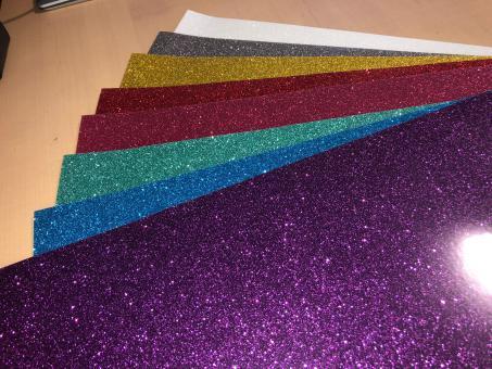 Glitter2 Flexfolien 8 Farben Starter-Set für kl. Plotter