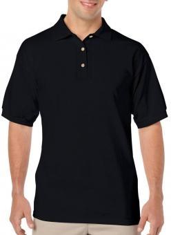 Herren Jersey Polo Black