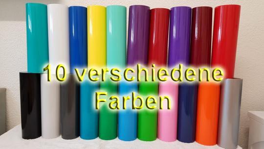 Folien - Starterset - 10 Bögen à 100cm x 31cm